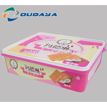 الغذاء الصف 2.4L IML box Cookie Packaging