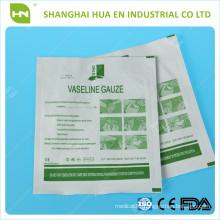 sterile vaselin gauze swabs 10cm CE ISO FDA made in China