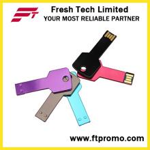 Metal clave USB Flash Drive con su logotipo (D352)