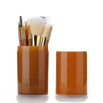 Orange Xử lý tổng hợp Hair Makeup Brush Set
