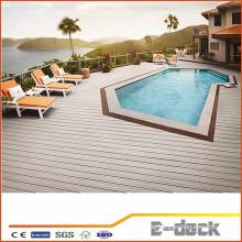 Anti-UV-tragbare Wpc Holz Kunststoff Composite Outdoor-Bodenbelag mit hoher Qualität für Schwimmbad