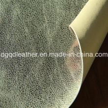 Cuero de zapatos de PU de doble cara (QDL-SP027)