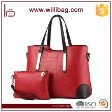 Alibaba China Women PU Leather Purses And Handbag Set