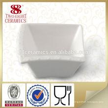 Bols en porcelaine blanche carrée en porcelaine pour le restaurant