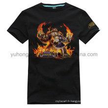 T-shirt imprimé personnalisé en coton personnalisé de haute qualité