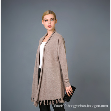 Lady′s Fashion Cashmere Blend Sweater 17brpv099