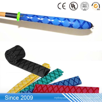 High Quality Fishing Rod Sleeving Anti Skid X Pattern Heat Shrinking Tubing