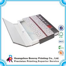 Custom printed book style display cardboard book box
