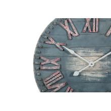 Reloj de pared de madera azul