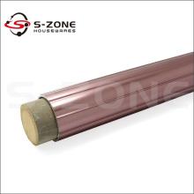 Purple golden wooden metal curtain rod 28mm