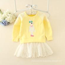 Hoodie Kleider Fleece Mädchen Röcke günstigen Preis Kleidung für Herbst On-Sale-Artikel für Kinder