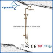 Polished Rose Gold Bathroom Shower Wall Mount Faucet
