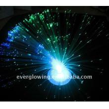 led light flashing fiber optic flower