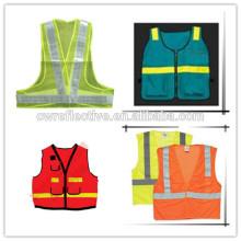 brigh yellow soft mesh kids reflective safety straps vest running