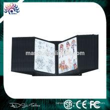 China fabricação de fornecimento da empresa 28 painéis laterais duplos parede tatuagem flash rack, imagem desenho exibição stand livro tatuagem prateleira