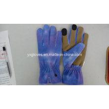 Guante de tela de lycra guante de mano de nubuck guante de jardín guante de trabajo guante de trabajo guante