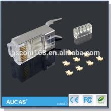 Cat7 Gold-überzogene UTP keystone Steckfassung / cat6 rj45 Verbindungsstück modulare Stecker / heißer Verkauf neuer Entwurf cat5e rj45 Stecker