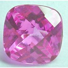 Потрясающая квадратная бриллиантовая огранка Розовый кубический циркон