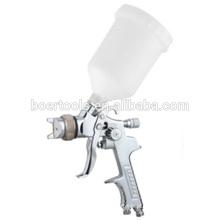 Porpular modelo pistola HVLP com copo de plástico de gravidade