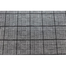 Black Checkered Jacquard Fabrics In Black And White