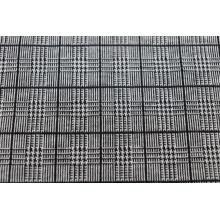 Tecidos jacquard xadrez preto em preto e branco