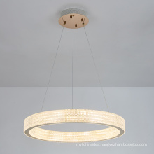 Modern luxury decoration living room hotel acrylic led chandelier pendant light