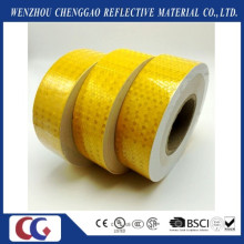 High Visibility Light Yellow PVC Self Adhesive Reflective Safety Stickers