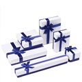 Folding jewelry set box with velvet insert