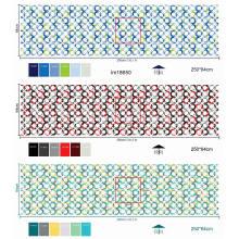Tela do colchão na matéria têxtil impressa poliéster de Rolls