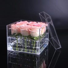 Waterproof preserved packaging box acrylic flower box