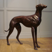 Popular Design bronze greyhound dog statues with 17 Years Foundry