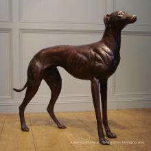 Estátuas de bronze popular do cão do galgo do projeto com 17 anos de fundição