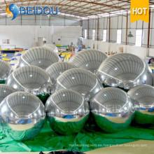 Fábrica al por mayor espejo decorativo globo ornamentos mini disco bola inflable del espejo