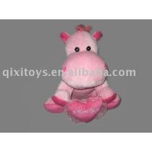 felpa de valentia de felpa y peluche con corazón, juguete de cabrito suave de animal