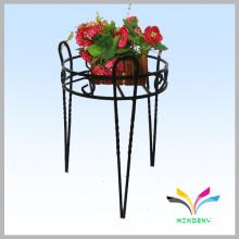 Personalizado 3 pies de piso de estilo de hierro forjado soporte de flores