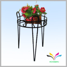 Customized 3 holders floor style wrought iron flower stand
