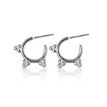 Fashion Design 925 Sun Silver Hoop Earrings Jewelry