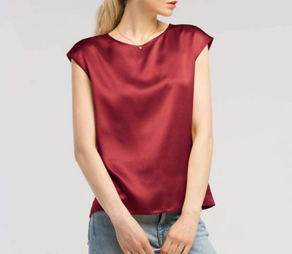 Red Silk Tops