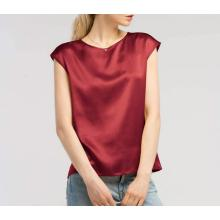 Summer Cool Comfy Charmeuse Tops de seda para damas