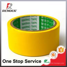 A amostra grátis pode ser impressa personalizada Amarelo de máscaras PVC Aviso fita de advertência detectável, fita de marcação de piso