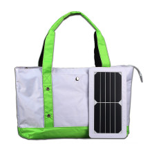 2017 Wholesale price 5W single shoulder portable solar charger backpack