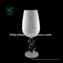 Single Wall Frosting Wine Glass by SGS (DIA6*21)