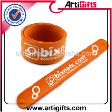 Promotional gifts custom silicone slap bracelets bulk
