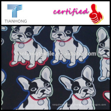 human friends cute comics dog 60s cotton silk feeling hleathy fabric for kid's clothing