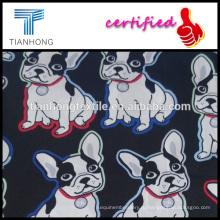 друзья человека милые комиксы хлопок собака 60s шелковое ощущение hleathy ткань для Детская одежда