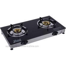 Fogão a gás duplo queimador, fogão de mesa