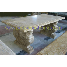 Garten Stein Marmor Tisch Stuhl für Gartenmöbel (QTB048)