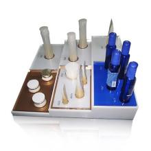 Glänzende Acryl-Arbeitsplatte Display Base für Testing Kosmetik, Display Organizer Fall