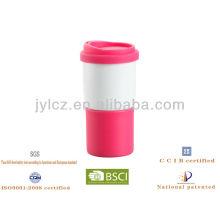 Keramik Reise Kaffeetasse mit Silikondeckel
