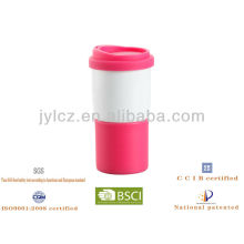 керамические путешествия кружка кофе с силиконовой крышкой
